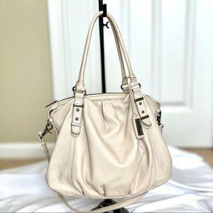 Badgley Mischka Cream Shoulder/Crossbody Bag